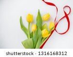 8 march bouquet of yellow... | Shutterstock . vector #1316168312