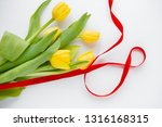 8 march bouquet of yellow... | Shutterstock . vector #1316168315