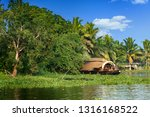 a traditional house boat is... | Shutterstock . vector #1316168522