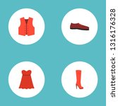 set of dress icons flat style... | Shutterstock .eps vector #1316176328