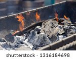 brazier with coals and fire... | Shutterstock . vector #1316184698