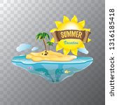 vector summer label with island ... | Shutterstock .eps vector #1316185418