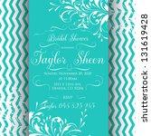 bridal shower invitation card | Shutterstock .eps vector #131619428
