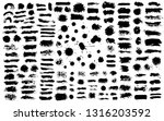brush strokes. vector... | Shutterstock .eps vector #1316203592