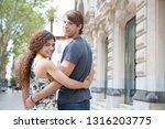 rear view of beautiful diverse... | Shutterstock . vector #1316203775
