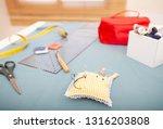 still life view of tailor tools ... | Shutterstock . vector #1316203808