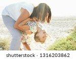 grandmother and granddaughter... | Shutterstock . vector #1316203862