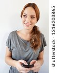 portrait of beautiful smart... | Shutterstock . vector #1316203865