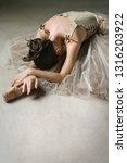 beautiful ballet dancer bending ... | Shutterstock . vector #1316203922