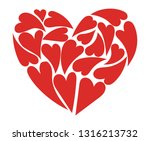 heart consisting of hearts.... | Shutterstock .eps vector #1316213732