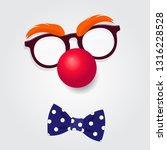 funny clown accessories. clown...   Shutterstock .eps vector #1316228528