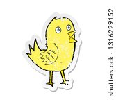 retro distressed sticker of a... | Shutterstock .eps vector #1316229152
