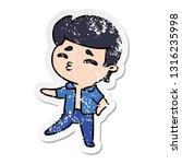 distressed sticker cartoon... | Shutterstock .eps vector #1316235998