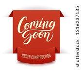 coming soon calligraphic... | Shutterstock .eps vector #1316237135