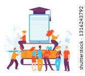 vector ediucation illustration... | Shutterstock .eps vector #1316243792