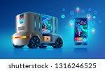 autonomous driverless van...   Shutterstock .eps vector #1316246525