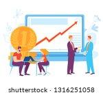 vector illustration with... | Shutterstock .eps vector #1316251058