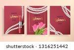 happy women's day 8 march. set... | Shutterstock .eps vector #1316251442