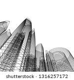 architecture building 3d  | Shutterstock .eps vector #1316257172
