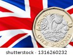 new uk one pound coin. uk... | Shutterstock . vector #1316260232