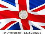 new british one pound coin. uk... | Shutterstock . vector #1316260238