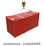 service delivery   red cargo... | Shutterstock . vector #1316265095