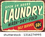 laundry fifties comic style...   Shutterstock .eps vector #1316274995