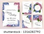 set of wedding invitation card... | Shutterstock .eps vector #1316282792