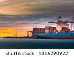 transportation and shipping... | Shutterstock . vector #1316290922
