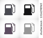 gas station icon vector   Shutterstock .eps vector #1316298965