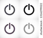 power off icon vector   Shutterstock .eps vector #1316299022