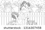vector illustration coloring... | Shutterstock .eps vector #1316307458