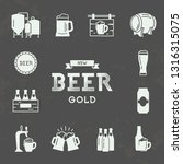 set of brewing icons in retro... | Shutterstock .eps vector #1316315075