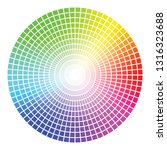 color wheel vector template... | Shutterstock .eps vector #1316323688