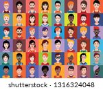 large set of people icons ...   Shutterstock .eps vector #1316324048