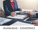 business people meeting... | Shutterstock . vector #1316324612