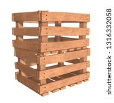 wooden box for transportation... | Shutterstock . vector #1316332058