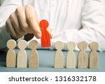 the boss dismisses the employee ... | Shutterstock . vector #1316332178