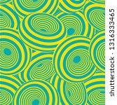 3d geometric striped donuts... | Shutterstock .eps vector #1316333465