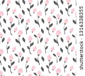 cute floral pattern in the... | Shutterstock .eps vector #1316338355