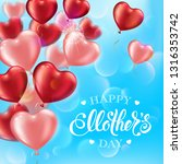 mothers day greeting card with... | Shutterstock .eps vector #1316353742