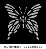 embroidery butterfly for fashion | Shutterstock .eps vector #1316355932