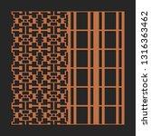 laser cutting interior panel.... | Shutterstock .eps vector #1316363462