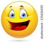 smiley illustration   childish... | Shutterstock . vector #131636435