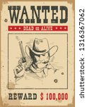 wanted poster background.... | Shutterstock .eps vector #1316367062
