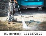 cobble driveway pressure... | Shutterstock . vector #1316372822