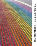 pride colors crossroad in... | Shutterstock . vector #1316378912