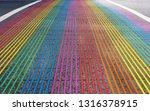 rainbow crossroad in castro... | Shutterstock . vector #1316378915