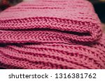 Folded Knitted Pink Plaid