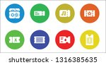 admission icon set. 8 filled... | Shutterstock .eps vector #1316385635